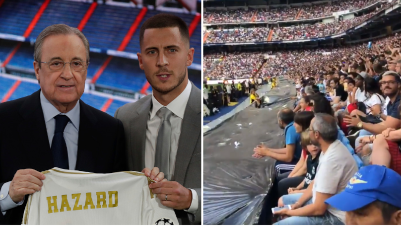 Real Madrid Fans Chant For Kylian Mbappe At Eden Hazard's Official Unveiling
