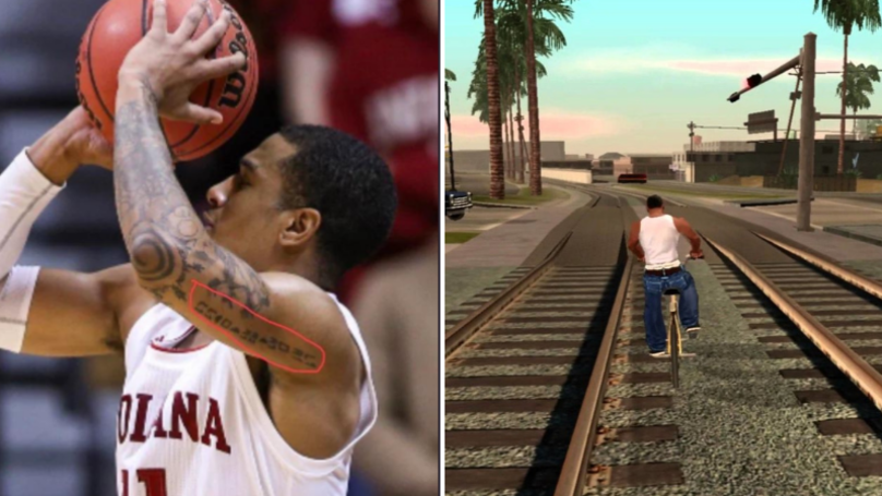 Indiana Hoosiers Devonte Green Has GTA Cheat Code Tattooed On His Arm