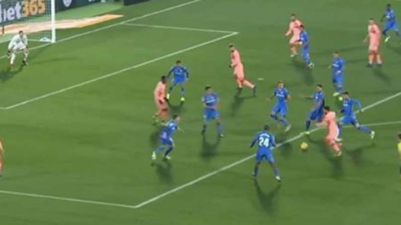 The Moment Six Getafe Players Tried To Stop Lionel Messi, And He Won