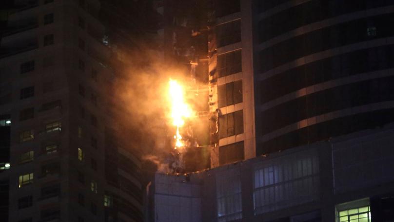 Blaze Tears Through Torch Tower In Dubai