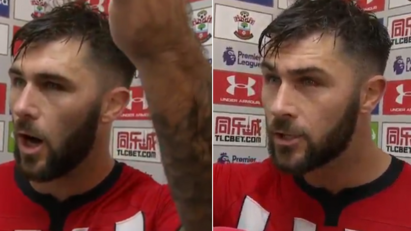 An Emotional Charlie Austin Fully Loses It In Post Match Interview And He's Spot On