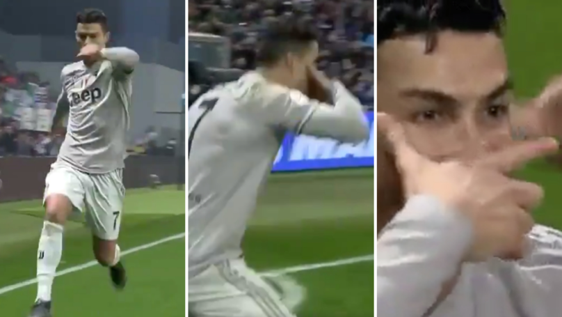 Cristiano Ronaldo Combines His 'Sí' Celebration With Paulo Dybala's 'Dybalamask' After Scoring