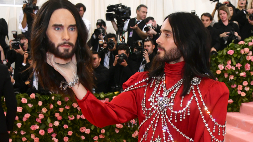 Jared Leto Takes Replica Of His Own Head To Met Gala