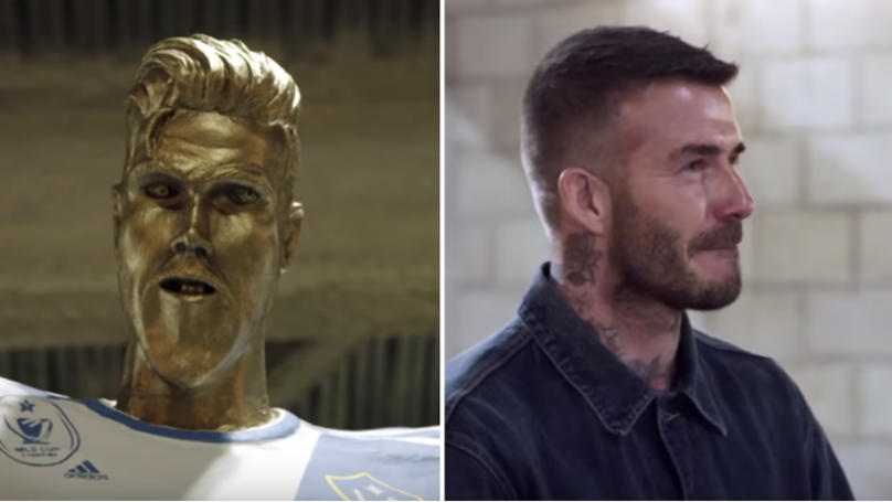 David Beckham Is The Victim Of Hilarious Fake Statue Prank