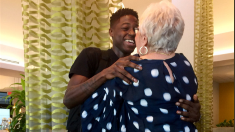 Twenty-Two-Year-Old Rapper Meets 81-Year-Old Retiree He Befriended Over 'Words With Friends'