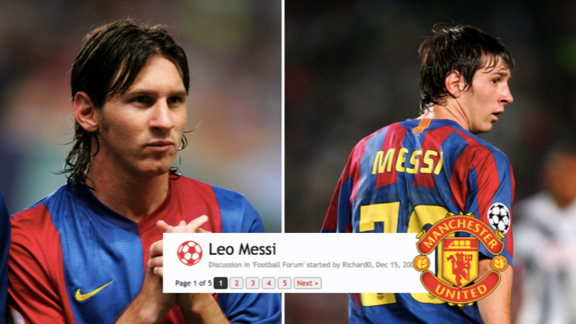 Thread About Lionel Messi From Man Utd Forum In 2005 Now Looks Hilarious