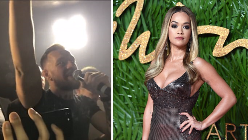 Conor McGregor Does A Cheeky Shout Out To Rita Ora At London Club Appearance