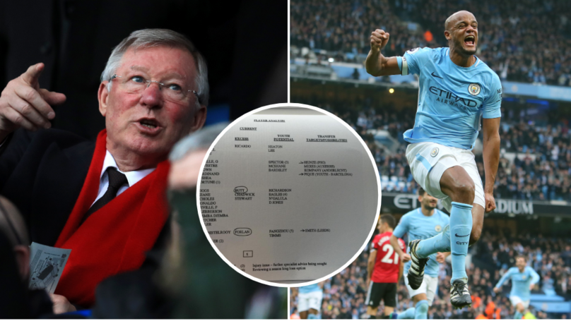 Leaked Manchester United 'Discussion Document' Shows Sir Alex Ferguson Wanted Vincent Kompany