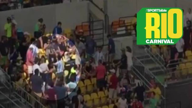 WATCH: Argentina And Brazil Fans Get Into Punch Up During Olympic Tennis