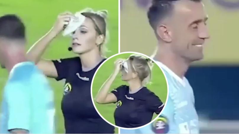Referee Fernanda Colombo Trolls Player With Brilliant Handkerchief Prank