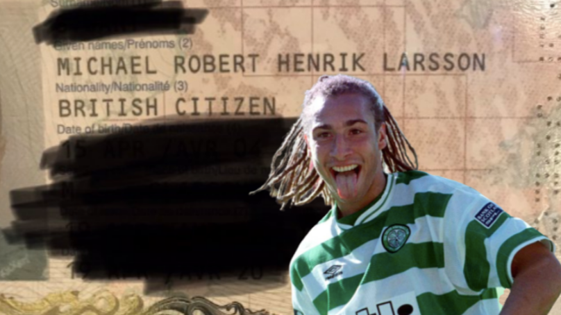 Celtic Fan's 'Henrik Larsson' Passport Goes Viral And The Man Himself Approves