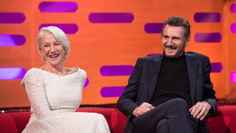 Liam Neeson Reunited With Ex Helen Mirren On Graham Norton