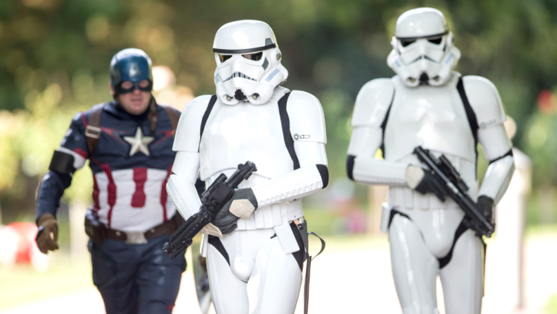 Stormtroopers And Superheros Lead Procession For ​Stanley Metcalf's Funeral