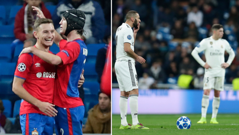 CSKA Moscow Beat Real Madrid 3-0 At The Santiago Bernabéu