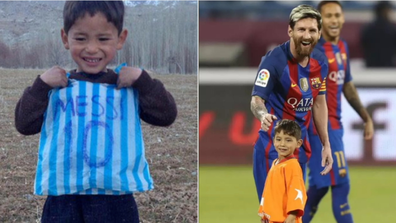 Afghan Boy Who Wore Plastic Bag Lionel Messi Shirt Forced To Flee Home By Taliban