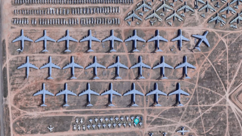 Google Maps: Explore Mysterious 'Aircraft Graveyard' Of Abandoned Planes