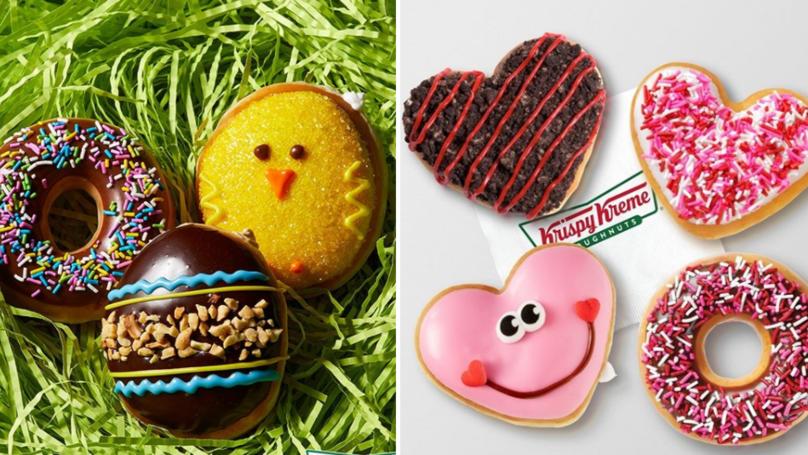 Krispy Kreme Releases A New Reese's Egg Doughnut Stuffed With Peanut Butter