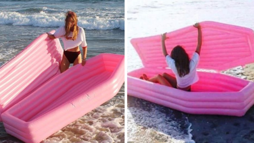 Rest – Or Float – In Peace With This Inflatable Coffin