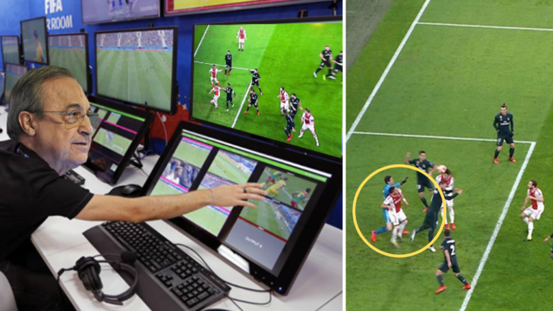 Fans Are Furious After VAR Controversially Rules Out Ajax's Goal Against Real Madrid In The Champions League