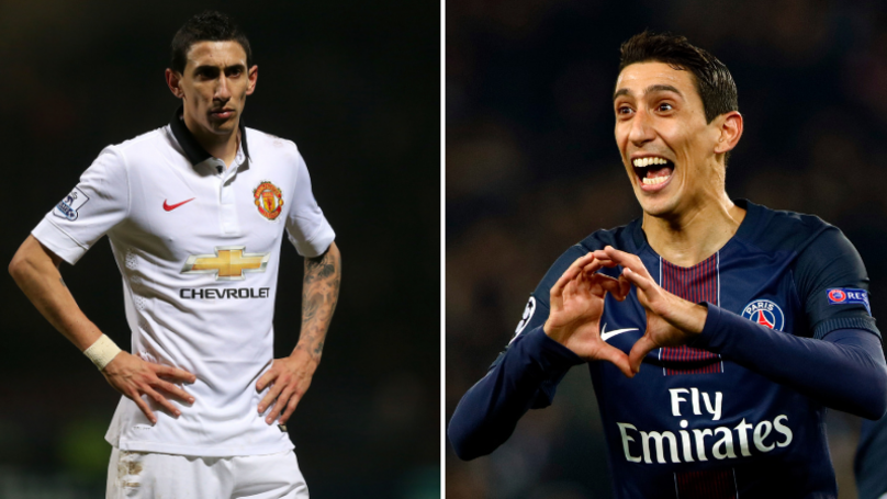 Angel Di Maria Speaks To PSG Teammate About Time At Manchester United