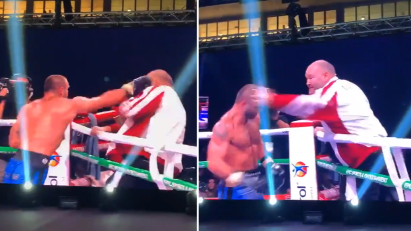 Boxer Attacks His Own Trainer, He Hits Him Back In Chaotic Scenes