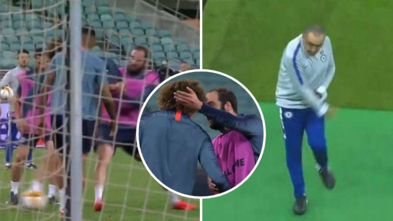 Maurizio Sarri Goes Mental After Higuain And Luiz Have Training Ground Spat