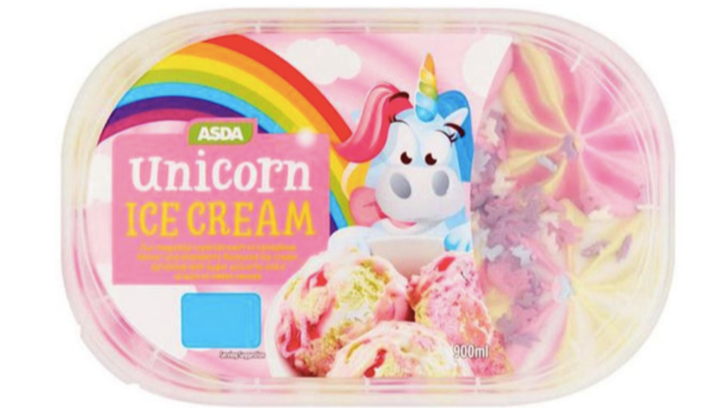 Asda Has Launched Unicorn Ice Cream - And It Tastes Like Marshmallows