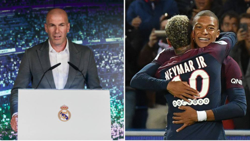 Zinedine Zidane 'Would Prefer To Sign Kylian Mbappe Over Neymar' For Real Madrid