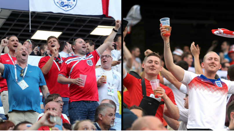​England Fans Are Chanting 'Are You Watching Germany'