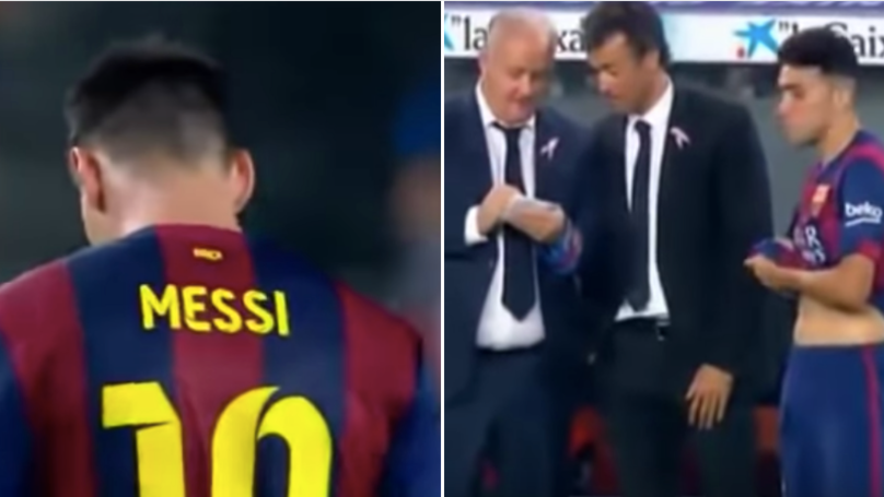 Image result for messi refuses to be substituted