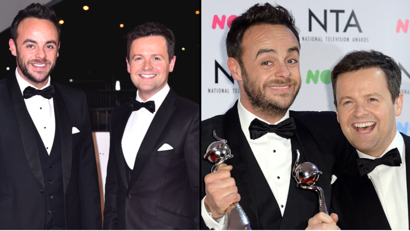 ​Ant McPartlin Trolls Best Mate Dec On His Birthday With Hilarious Picture Of Him Posing With Dress