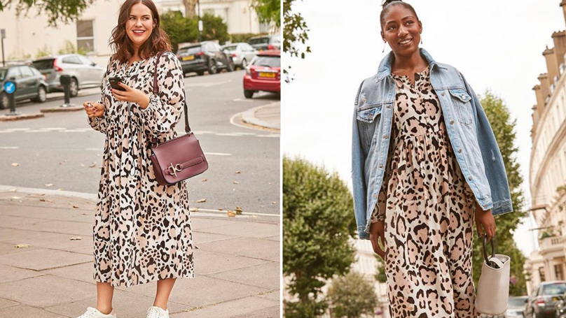 This Animal Print Midi Dress From M&S Keeps Selling Out And It's Easy To See Why