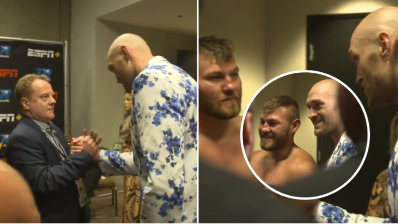 Tyson Fury Went Into Tom Schwarz's Dressing Room After The Fight In Class Gesture
