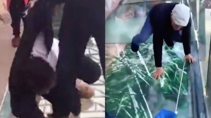 This 'Cracking' Glass Bridge Is Absolutely Terrifying