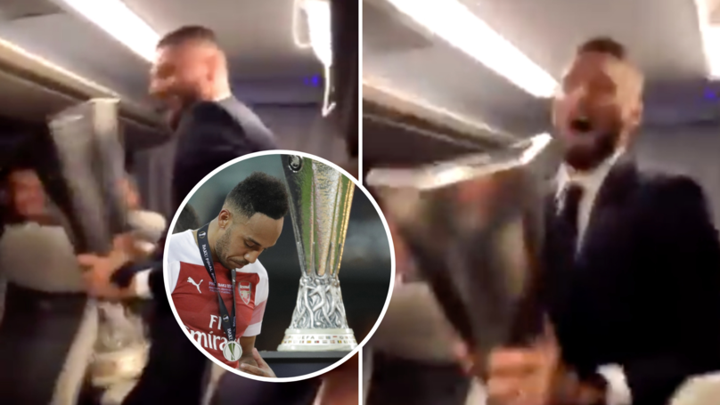 Olivier Giroud Mocks Arsenal On Chelsea's Team Bus After Europa League Thrashing