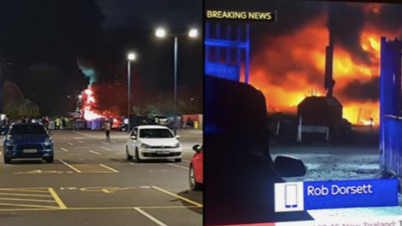BREAKING: Leicester City's Owner's Helicopter Crashes In Stadium Car Park