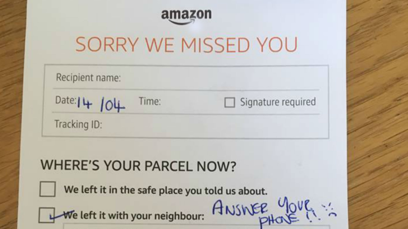 Family Left 'Fearful Of Opening The Door' After Amazon Driver's 'Angry Face' Note