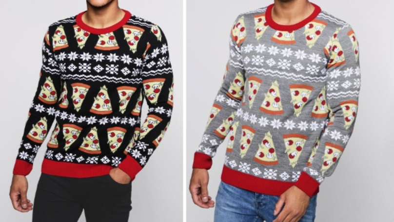 ​Boohoo Is Selling Christmas Jumpers For Pizza Lovers