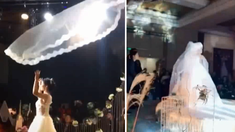 China's New Wedding Trend Involves Flying Veils And It's Extra AF