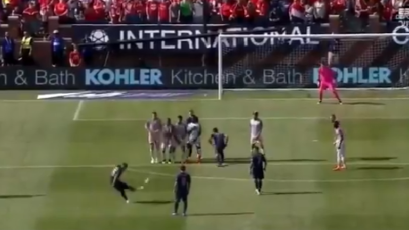 Watch: Andreas Pereira Scores Sublime Free-Kick Against Liverpool
