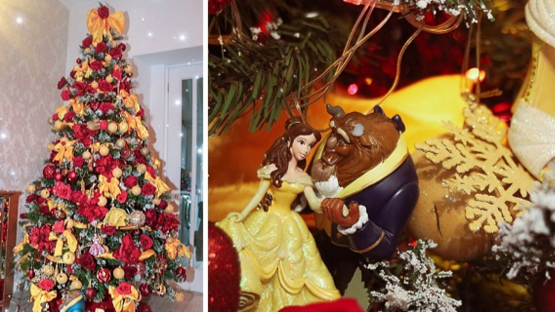 Disney Fan Spends 30 Hours Creating Beauty And The Beast Christmas Tree