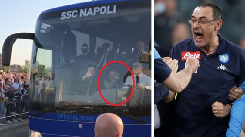 Napoil Boss Gives Juventus Supporters Middle Finger Ahead Of Clash