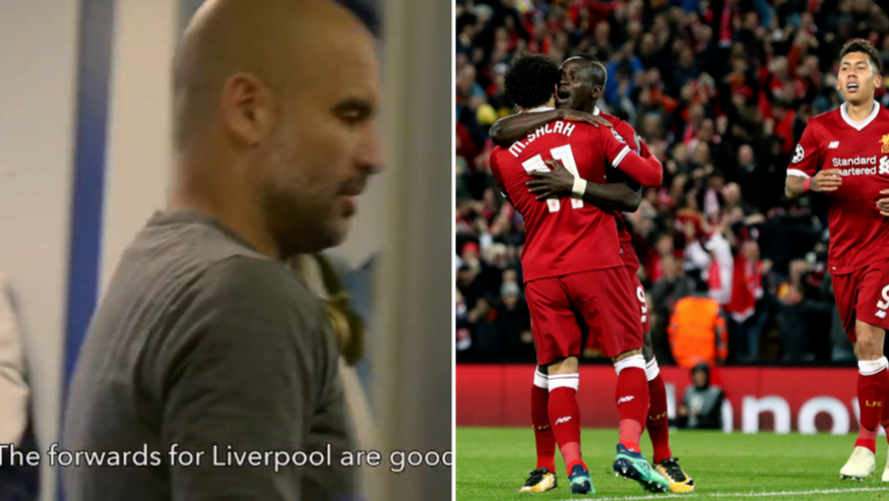 Liverpool Already Know Pep Guardiola Is Scared Of Their Attackers