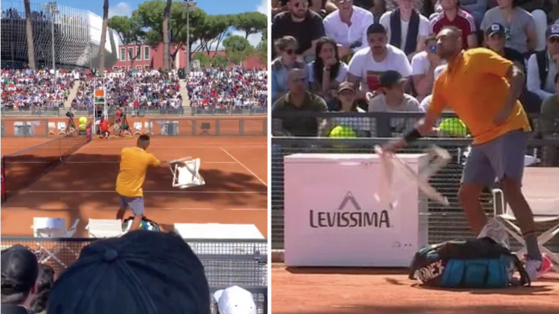 Nick Kyrgios Kicked Out Of Italian Open After Launching Chair Across Court