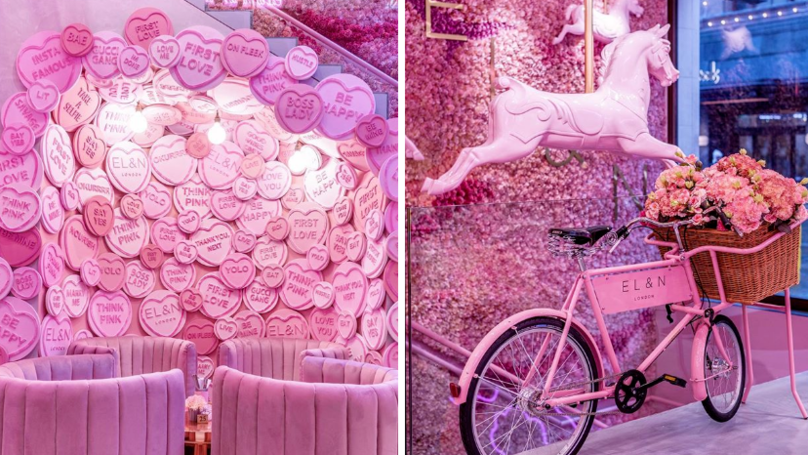 This Café Is Covered In Pink Hearts And Is A Millennial's Paradise