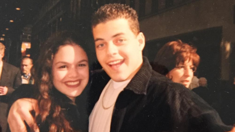 Rami Malek Is Rocking A Strong Look In Rachel Bilson's High School Throwback Snap