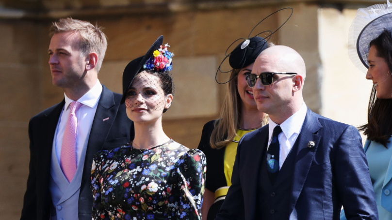 ​Tom Hardy Rocked Up To The Royal Wedding With A Bald Head
