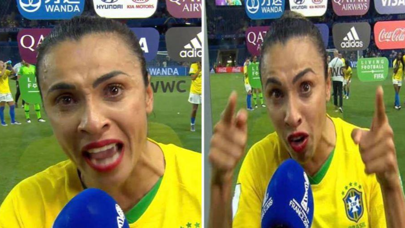 Marta Gives Impassioned Speech To Brazil's Youth After World Cup Loss