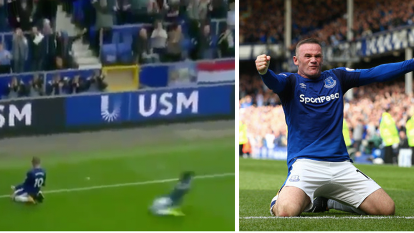 WATCH: Wayne Rooney Scores A Belter On His Second Everton Debut