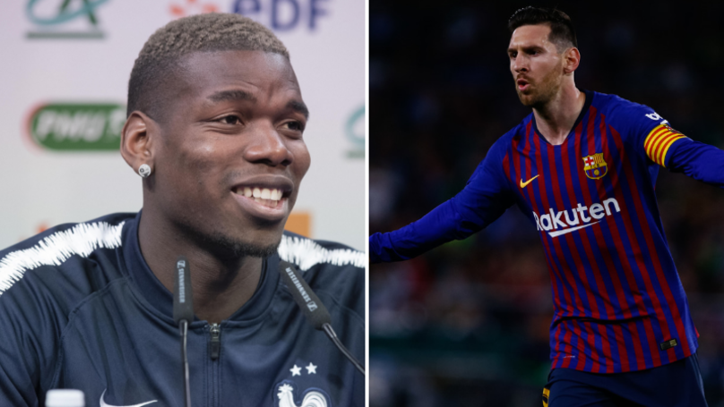 Paul Pogba Claims Lionel Messi Is 'Far Above The Rest'